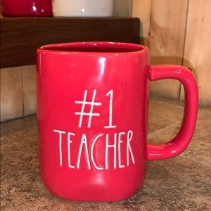 "Rae Dunn ""#1 Teacher"" Mug"